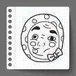 japan Thief mask doodle