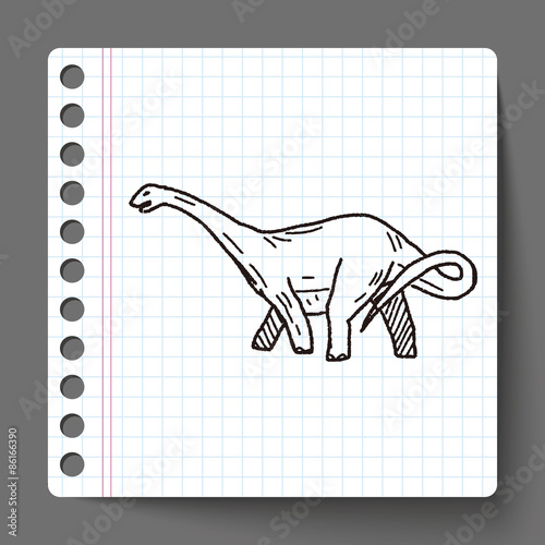Photo  Brontosaurus dinosaur doodle