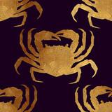 Bezszwowy wzór z złotymi zwierzętami. - 86167594