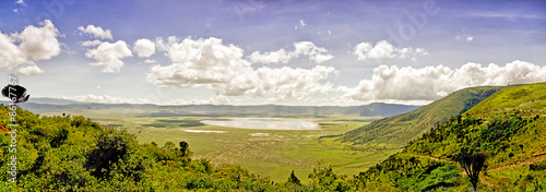 Carta da parati View of Crater Ngorongoro