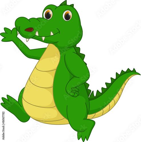 Papiers peints Dinosaurs cute crocodile cartoon