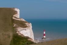 Lighthouse Near Beachy Head Cliffs