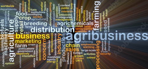 Agribusiness background concept glowing Canvas Print