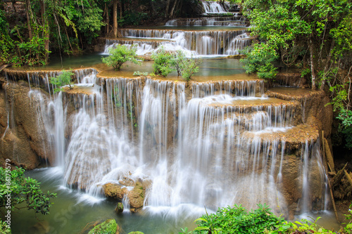 Huai Mae Khamin waterfall in deep forest, Thailand - 86175579
