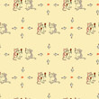 seamless pattern cats and wine