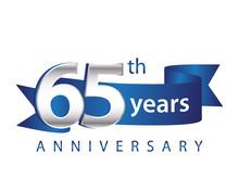65 Years Anniversary Logo Blue...