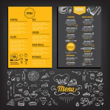Restaurant Cafe Menu, Template...