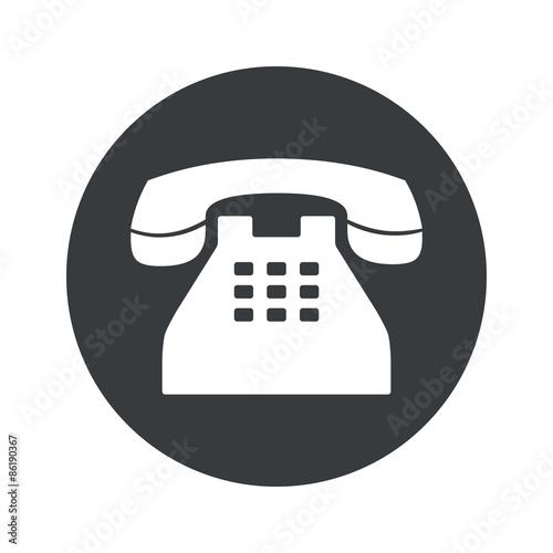 Foto Monochrome round phone icon