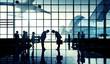 Leinwanddruck Bild - International Airport Business Travel Bow Down Concept