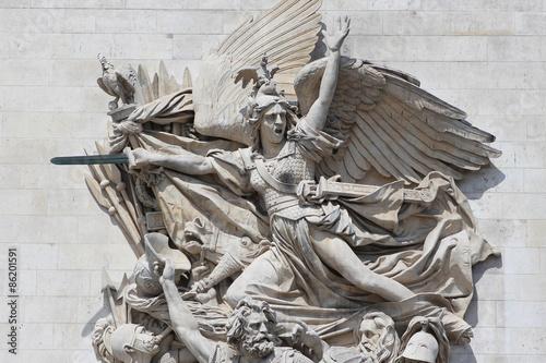 Fotografía Paris - Arc de Triomphe / La Marseillaise de Rude