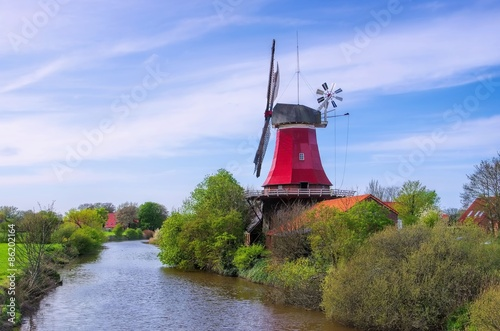 Poster Molens Greetsiel Rote Muehle - Greetsiel red windmill 02