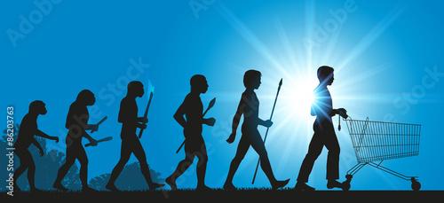 Fotografía  Hommes Evolution Consommateur