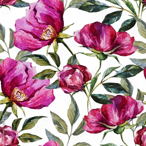 akwarela-kwiatowy-wzor