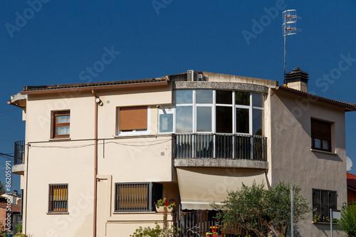 Staande foto Industrial geb. residential modern house outdoors