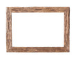 canvas print picture - Wooden Frame / Rustic wood frame isolated on the white background with clipping path
