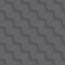 Repeating Ornament Dotted Diagonal Wavy Dark Gray