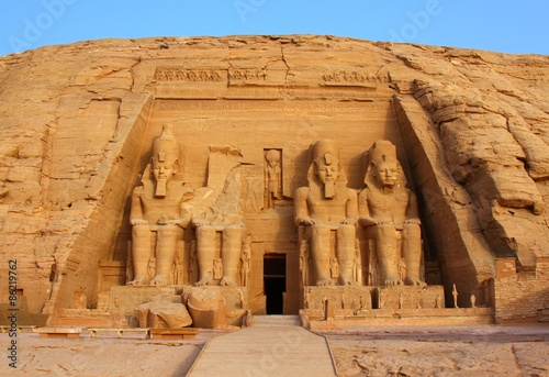 Poster Bedehuis The temple of Abu Simbel in Egypt