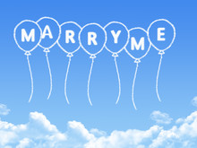 Cloud Shaped As Marry Me Message
