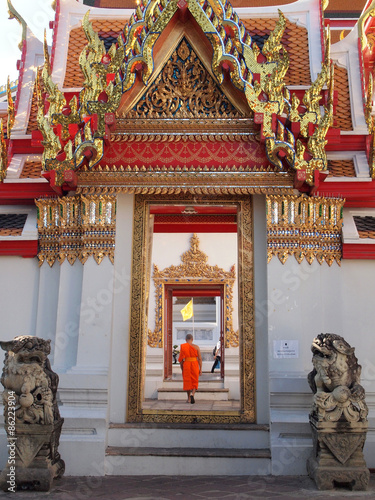 Poster Pekin arch door of buddhism temple
