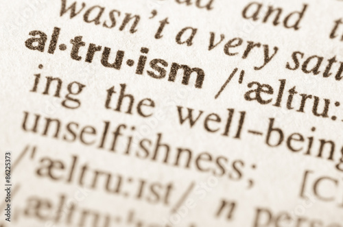 Dictionary definition of word altruism Wallpaper Mural