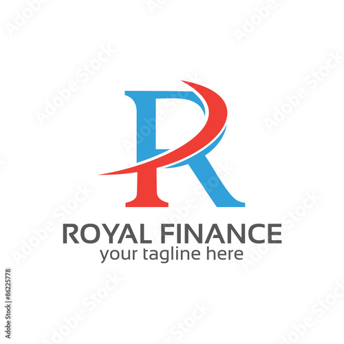 Photo  Business corporate Letter R logo design vector