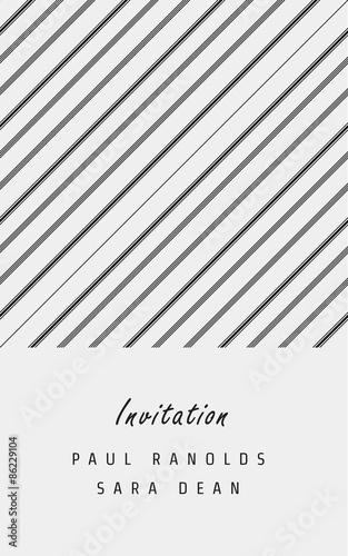 vector minimal invitation card or ticket monochrome geometric
