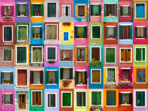 Fototapety, obrazy: Windows colorful Burano
