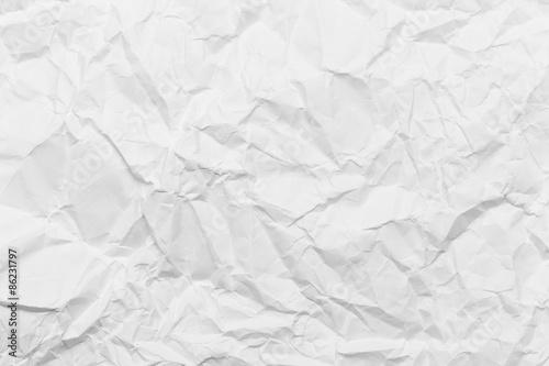 Wrinkled white paper Fototapet