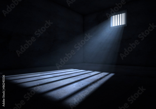 Light in prison cell Wallpaper Mural