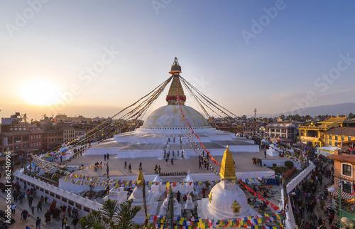Fotografia Boudhanath stupa kathmandu nepal