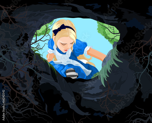 Printed kitchen splashbacks Fairytale World Wonderland Alice