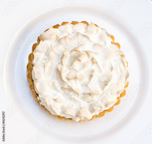 Fototapeta Cake or Lemon pie with meringue