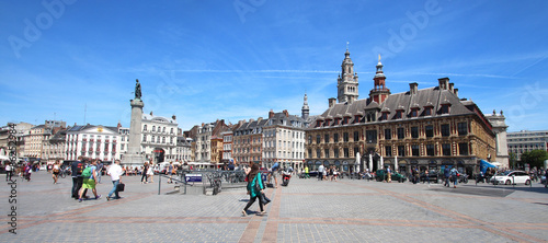 Fotografie, Tablou Lille (North of France) / Grand place