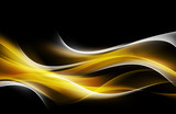 Powerful Orange White Light Abstract Waves Background - 86253746