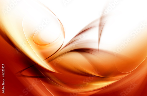 Chaos Brown Gold Light Abstract Waves Background