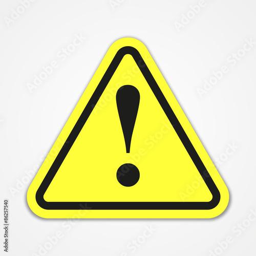 Fotografie, Obraz  Danger warning attention sign