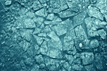 Texture Of Crushed Ice Crack I...