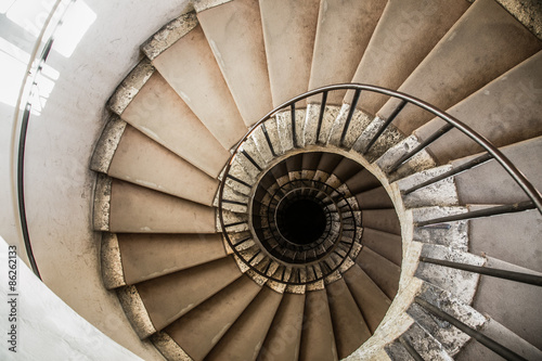 Canvas Print spiral staircases