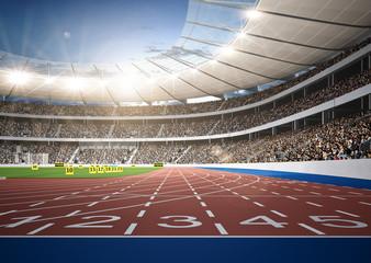 Fototapeta Stadion Leichtathletik Sprintstrecke