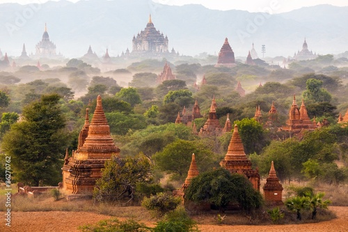 Pagoda landscape in Bagan Wallpaper Mural