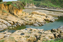 Ho Ping Island Hi Park Located In Keelung,Taiwan. It Is Set Up Along The Coast As A Seashore Park.
