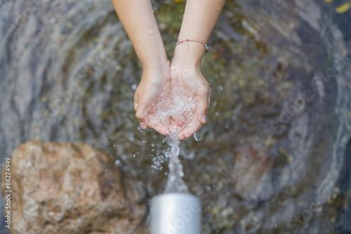 Fotografía  Fuente de agua.