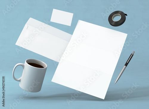 Briefpapier Kuvert Visitenkarte Vorlage Kaffee – kaufen Sie diese ...