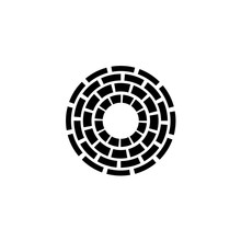 Concentric Dashed Circles Sign
