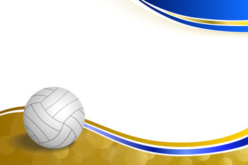 Panel Szklany Siatkówka Background abstract sport volleyball blue yellow ball frame illustration vector