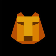 Tiger Face With T Letter Fitted Logo Template