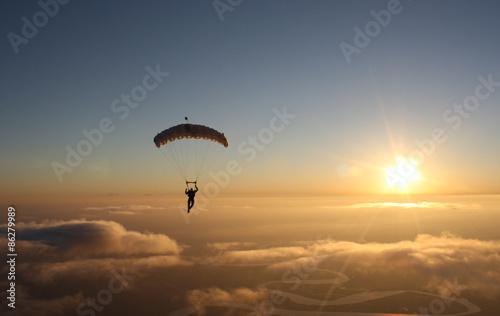 Skydiving Canopy sunset Landscape