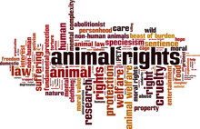 Animal Rights Word Cloud Conce...