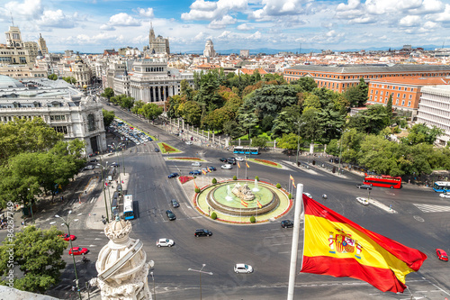 In de dag Madrid Cibeles fountain at Plaza de Cibeles in Madrid