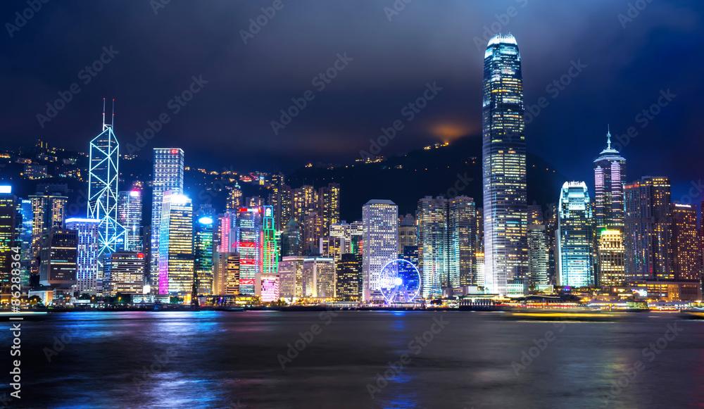 HONG KONG - JUNE 09: City Landscape of Hong Kong from Star of Av